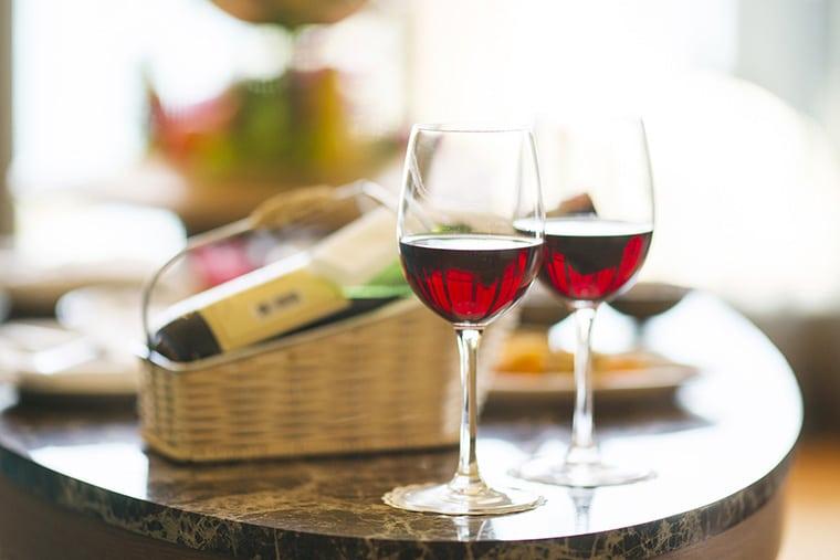 Sélection de bon vin rouge